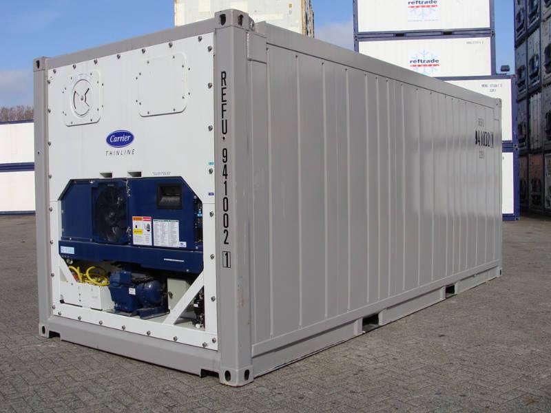 Container 20 pés reefer para transporte marítimo container 20ft
